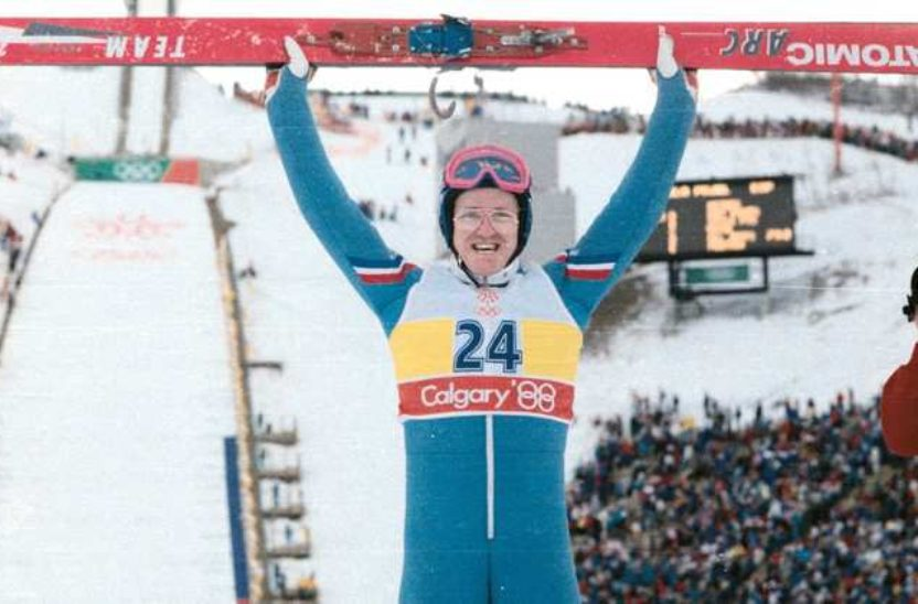Eddie the Eagle Jumps Again in Calgary!